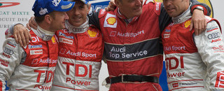 Le Mans Audi still celebrating historic Le Mans victory