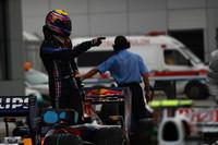 Webber on pole as rain wreaks havoc on qualifying