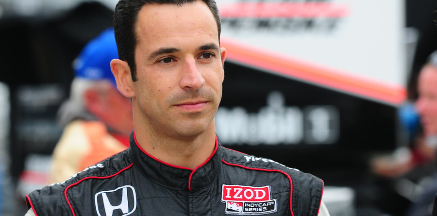 Castroneves quickest on Sunday at the Brickyard