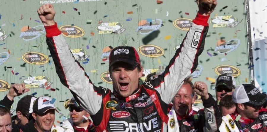 Jeff Gordon claimed victory in Phoenix