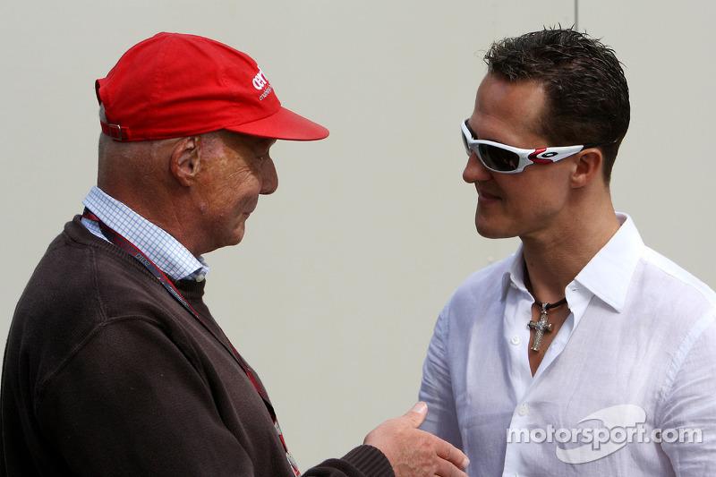 Lauda doffs famous cap to Schumacher