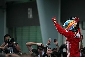 Formula 1 Ferrari celebrates Alonso victory in Malaysian GP
