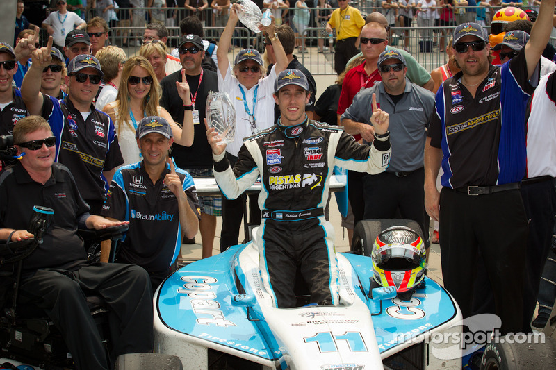 Guerrieri comes from last to capture Freedom 100 thriller at Indy