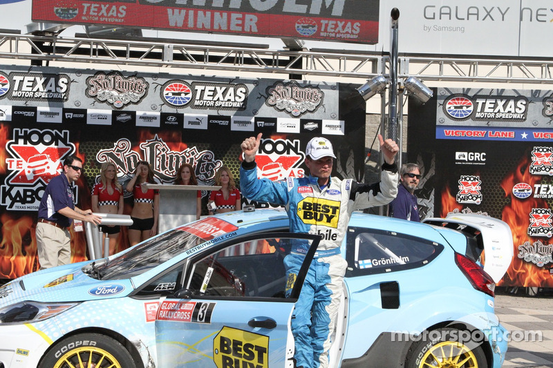 Marcus Gronholm wins Rallycross round 2 at Texas