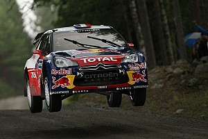 WRC Leg report Loeb leads the flying Finns behind on opening day of Rally Finland