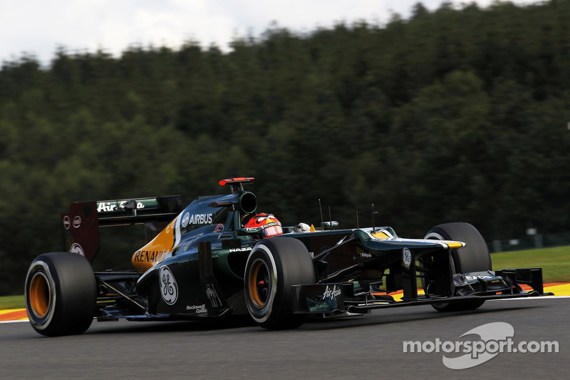 Caterham qualifies on tenth-row for Belgian GP