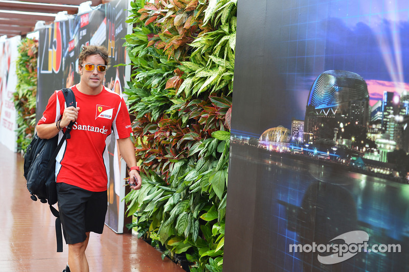 "Singapore GP - Alonso: ""new parts for the car, optimistic we can do well"""