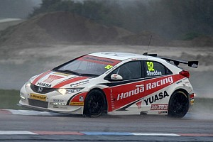 BTCC Race report Shedden takes double victory and points lead at wet Rockingham