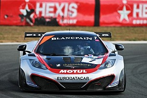 Blancpain Endurance Qualifying report HEXIS McLaren storms to Blancpain Series pole at Navarra