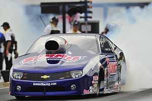 NHRA Qualifying report Line captures pole for Las Vegas race keeping championship hopes alive