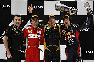Formula 1 Race report Raikkonen-Alonso-Vettel podium in Abu Dhabi thriller