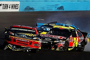 NASCAR Cup Breaking news Bowyer and Gordon incident causes fist-cuffs at PIR - video