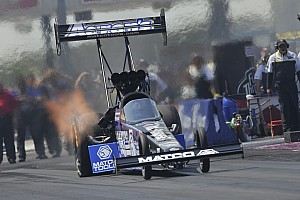 NHRA Race report Antron Brown overcomes fire, challenge from teammates to win  Top Fuel championship