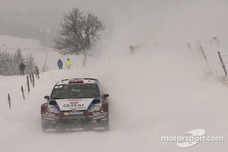 Østberg propers for Qatar M-Sport team in Rallye Monte Carlo