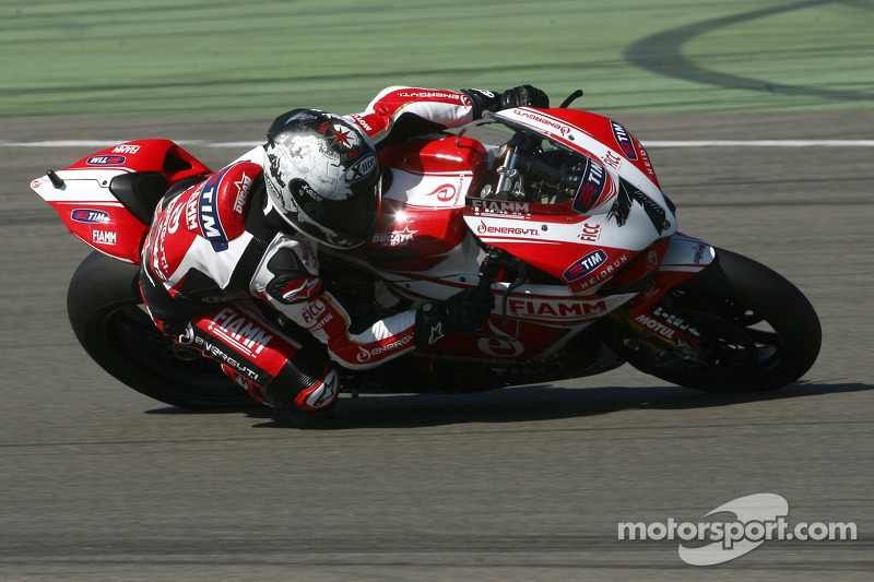Team SBK Ducati Alstare hard at work at Monza