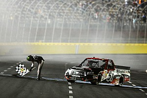 NASCAR Truck Race report Kyle Busch rallies to win the Charlotte 200 race