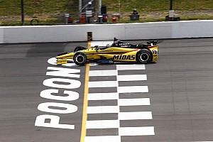 IndyCar Blog Pocono's elevated sprocket drive shape gives IndyCar traction