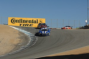 Grand-Am Race report Lack of luck in both series for B+ Racing drivers at Laguna Seca