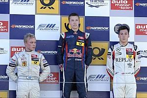 F3 Europe Race report Felix Rosenqvist wins twice to set up title showdown at Zandvoort