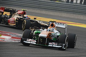 Formula 1 Race report Both Force India drivers gain points for the team in today's race at India