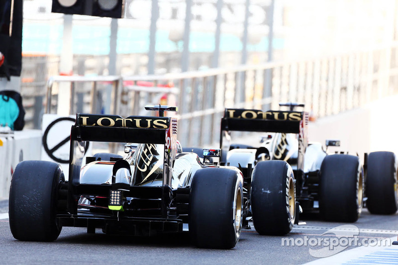 Lotus to start Abu Dhabi GP from P5 and P7