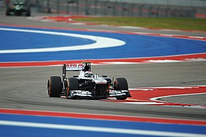 Formula 1 Qualifying report Bottas qualified ninth with Pastor Maldonado 18th for tomorrow's United States Grand Prix