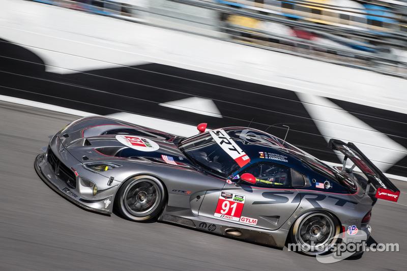 SRT Motorsports' Marc Goossens captured the GTLM pole at Daytona