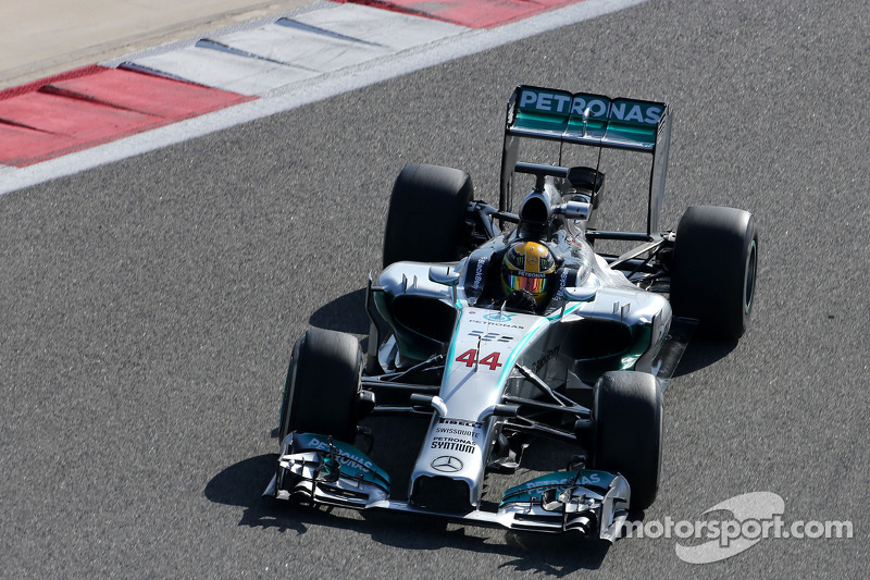 Hamilton goes fastest on day three of Bahrain test
