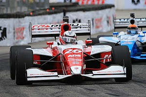 Indy Lights Race report Zach Veach clinched his second career win on the Grand Prix of Alabama Race One