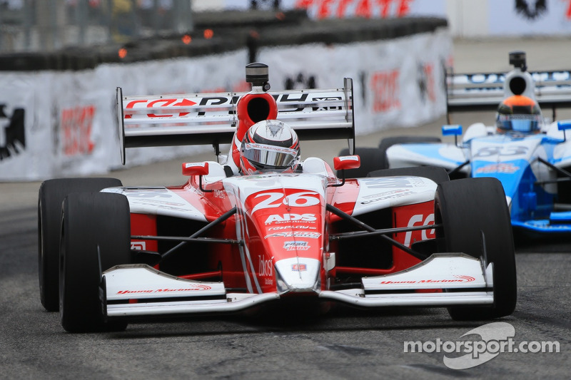 Zach Veach clinched his second career win on the Grand Prix of Alabama Race One