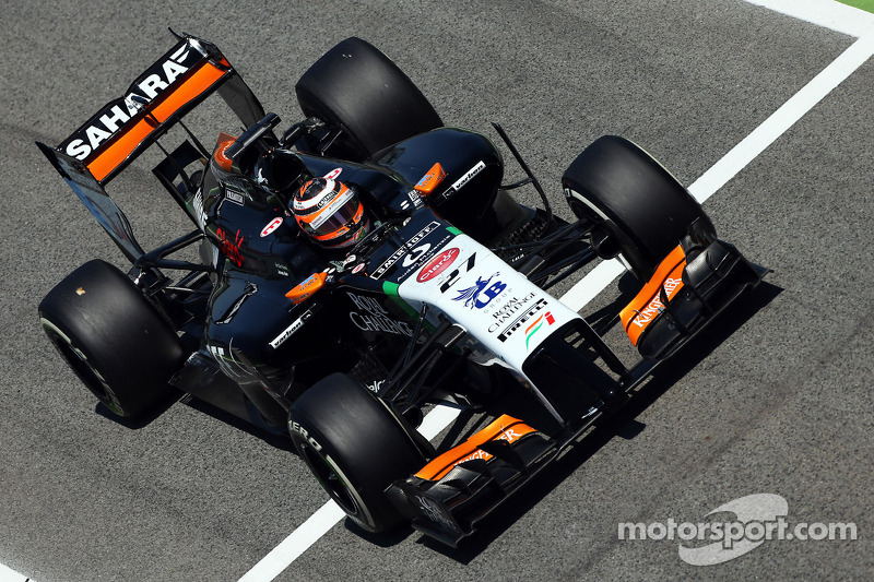Sahara Force India has a positive free practice day in Barcelona