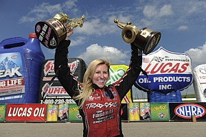 NHRA Breaking news Funny car driver Courtney Force earns 100th victory for females