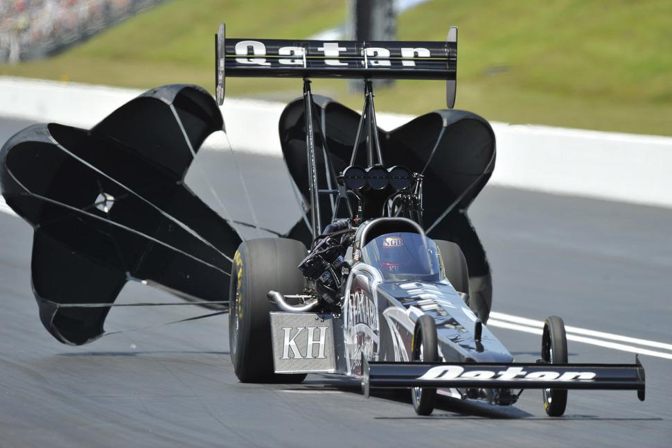 Top Fuel champion Langdon leads NHRA qualifying