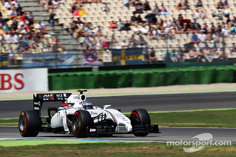 Bottas finished second with Massa third in a very hot qualifying session at Hockenheim