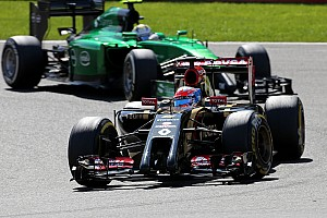 Formula 1 Race report Both Lotus drivers suffered forced retirements from the Belgian GP
