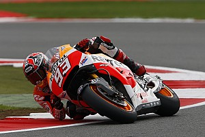 MotoGP Qualifying report Bridgestone: Marquez runs riot in cool conditions to take pole position at Silverstone