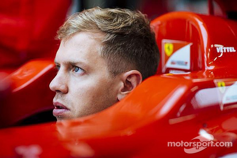 Vettel on track in 2012 Ferrari
