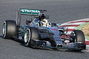 Formula 1 Testing report Split shift for Rosberg and Hamilton on day two at the Circuit de Barcelona-Catalunya