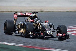 Formula 1 Testing report Grosjean resumed test duties in the Lotus E23 Hybrid at Barcelona