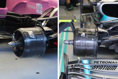 Wie ähnlich sind sich die Bremsschächte von Racing Point und Mercedes?