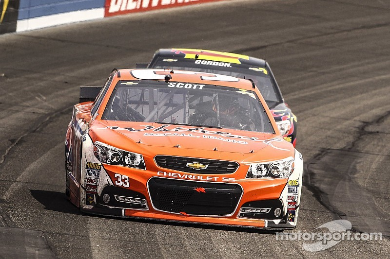 BUSTED: The No. 33 Circle Sport Chevy popped with a P4 penalty