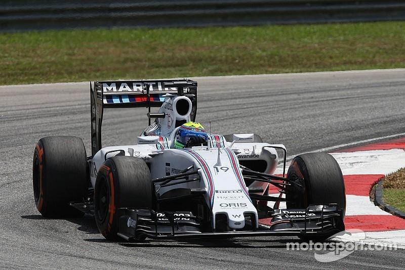 Massa qualified seventh and Bottas ninth for tomorrow's Malaysian GP