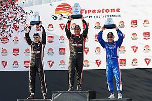 IndyCar Race report Montoya wins IndyCar season opener after late-race duel