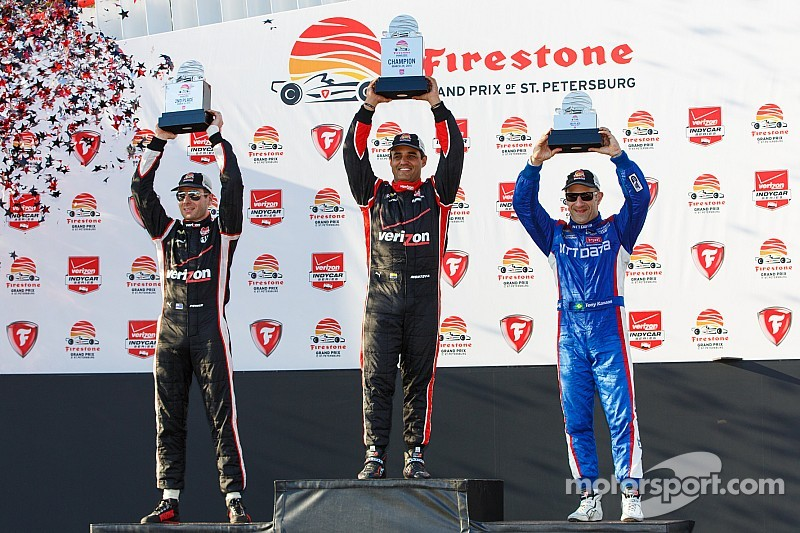 Montoya wins IndyCar season opener after late-race duel