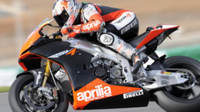 WBSK 2010, Portimao, Test: Aprilia work in progress