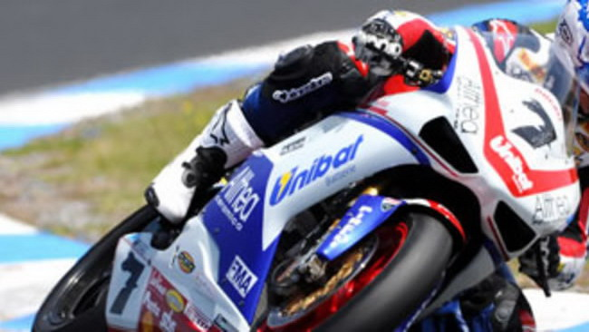 WSBK 2010, Phillip Island Test: Althea al top