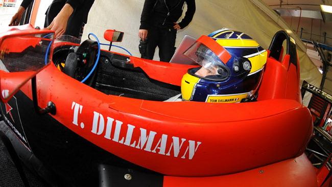 Dillman con il Team Ghinzani nei test di Imola