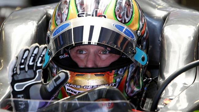Valsecchi ai test di Barcellona con il Team Lotus