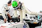 Una zavorra persa ha perforato la Sauber di Perez!