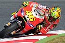 Valentino promuove il nuovo motore della Ducati